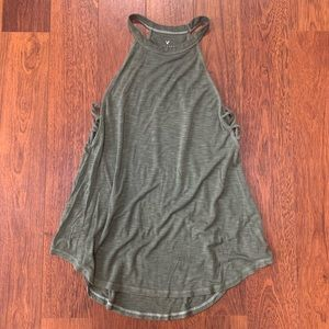 American Eagle Soft and Sexy high neck tank top